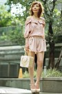 Mini-picnic-bag-bag-shorts-mary-janes-heels-blouse-accessories