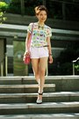 Bubble-gum-satchel-bag-light-pink-h-m-shorts-aquamarine-h-m-heels
