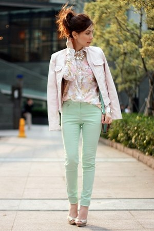 Light Pink Forever 21 Faux Leather Jacket | Chictopia