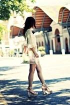 off white crochet dress - off white love print tote bag
