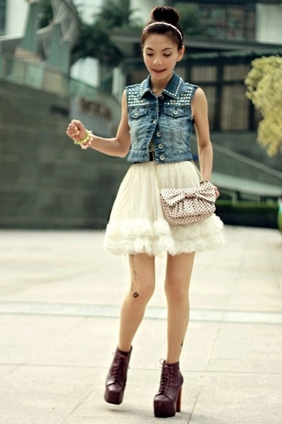 eggshell skirt - magenta litas Jeffrey Campbell shoes