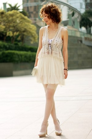 silver Bershka heels - white intimate