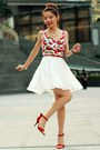 Red-top-white-lace-skirt-red-bow-ingni-belt-red-satin-bow-nine-west-heels