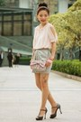 Silver-metallic-h-m-skirt-light-pink-red-valentino-bag