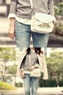 Light-blue-gap-jeans-light-pink-forever-21-jacket