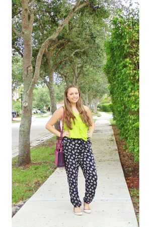 eggshell Forever 21 shoes - maroon purse - black pants