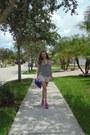 Blue-aldo-purse-forever-21-shorts-forever-21-blouse-hot-pink-aldo-sandals