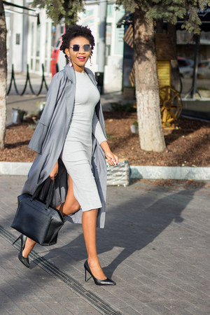 charcoal gray trench Sheinside coat - heather gray romwe dress