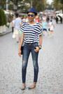 Striped-zara-t-shirt-zara-sandals