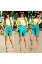 ankara prints bag - shirt - shorts - sunglasses - ankara prints bracelet