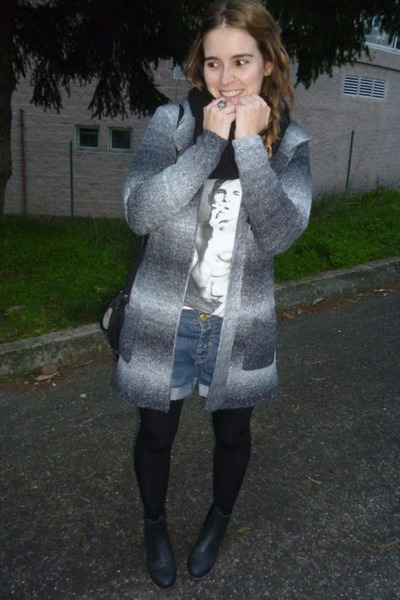 black Primark shoes - charcoal gray Primark cardigan