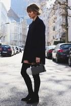 black & other stories boots - black knitdress Rockamora dress