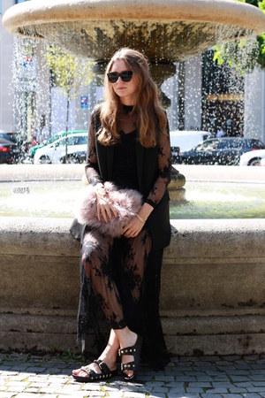 black lace Glamorous dress - black cat eye Le specs sunglasses