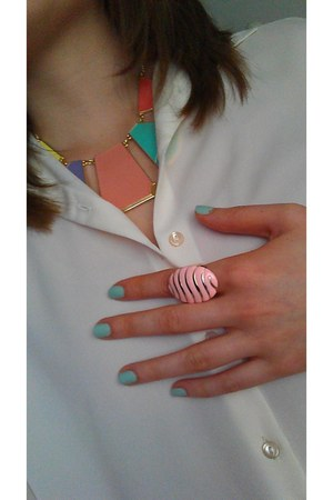 Zara necklace - Topshop shirt - New Yorker ring