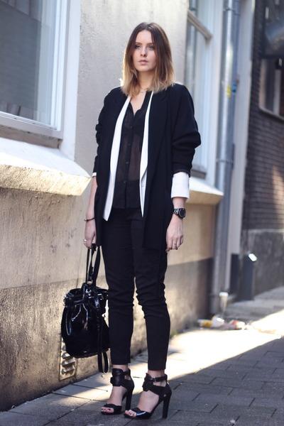 Alexander Wang bag - By Malene Birger blazer - Alexander Wang heels