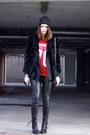 Acne-boots-vintage-coat
