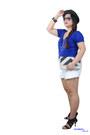 Black-purse-white-shorts-aviator-sunglasses-tan-wedges-blue-top