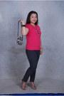 Skinny-giordano-jeans-zebra-print-saks-fifth-purse-strappy-heels-necklace-