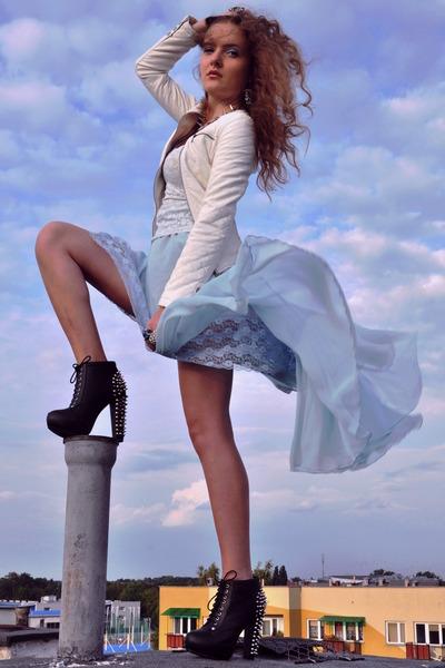 aquamarine DIY skirt