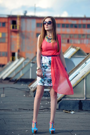 hot pink Bershka dress