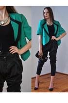 turquoise blue vintage jacket