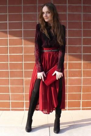 ruby red Wallis blouse