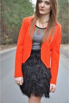 carrot orange Zara jacket