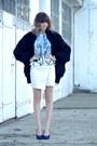 White-mohito-skirt-blue-zara-blouse