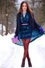 Blue-bershka-coat-hot-pink-orsay-bag