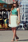 Turquoise-blue-h-m-dress