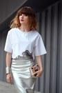 Silver-river-island-skirt-white-zara-blouse