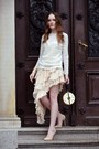 Cream-chicwish-skirt-ivory-zara-blouse