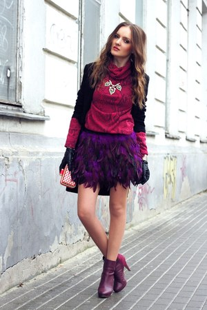 purple romwe skirt