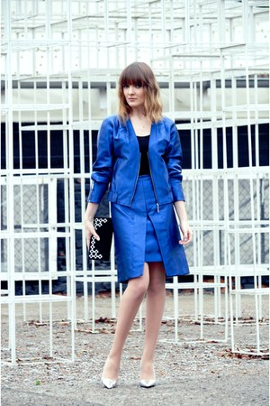 blue Simple CP jacket - blue Simple CP skirt