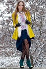 Yellow-river-island-coat-forest-green-diy-skirt