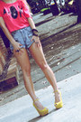 Mustard-wedges-tony-bianco-wedges-sky-blue-shorts-one-teaspoon-shorts