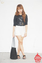 black bench shirt - black Natasha sandals