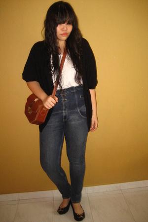 f21 jacket - Topshop jeans - Topshop shoes - purse