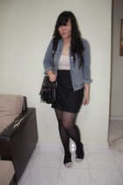Gap jacket - Made skirt - Topshop tights - Topshop shirt