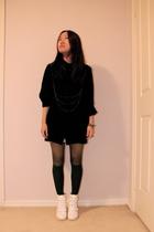 Dont Ask Amanda shirt - fat stockings - boots