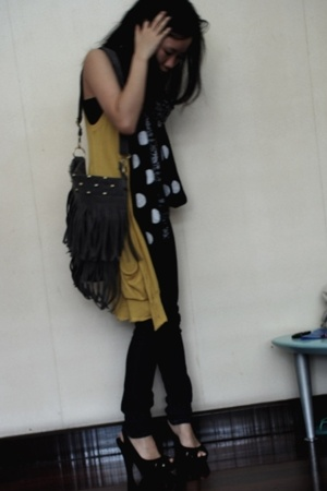 Forever21 vest - supre top - Another Place scarf - Cheap Monday jeans - Nine Wes