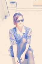 vintage dress - asos shirt