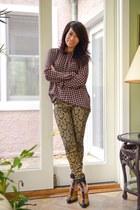 clogs Alexander Wang shoes - brocade Forever 21 pants - printed Zara blouse