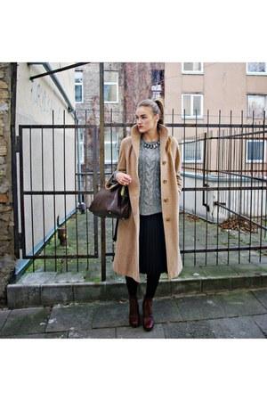 brown Katana Paris bag - light pink H&M scarf - dark brown asos heels