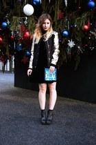 black Nylon Shop dress - camel Nylon Shop jacket - sky blue Nylon Shop bag