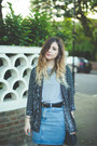 Black-h-m-jacket-sky-blue-american-apparel-skirt-charcoal-gray-boohoo-vest