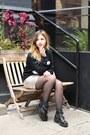 Black-fashion-union-boots-black-nylon-shop-sweater-nude-oasis-skirt