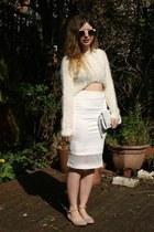 ivory Matalan bag - white Matalan skirt - white Matalan jumper