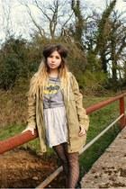 Topshop t-shirt - Topshop coat - Topshop skirt