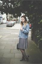 white Miss Selfridge top - black Topshop shoes - navy H&M dress